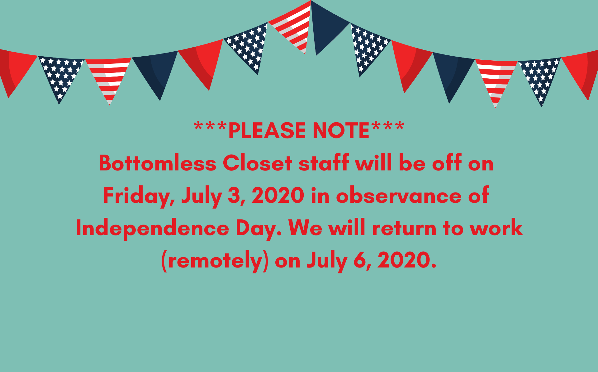 Office Closure July 3rd