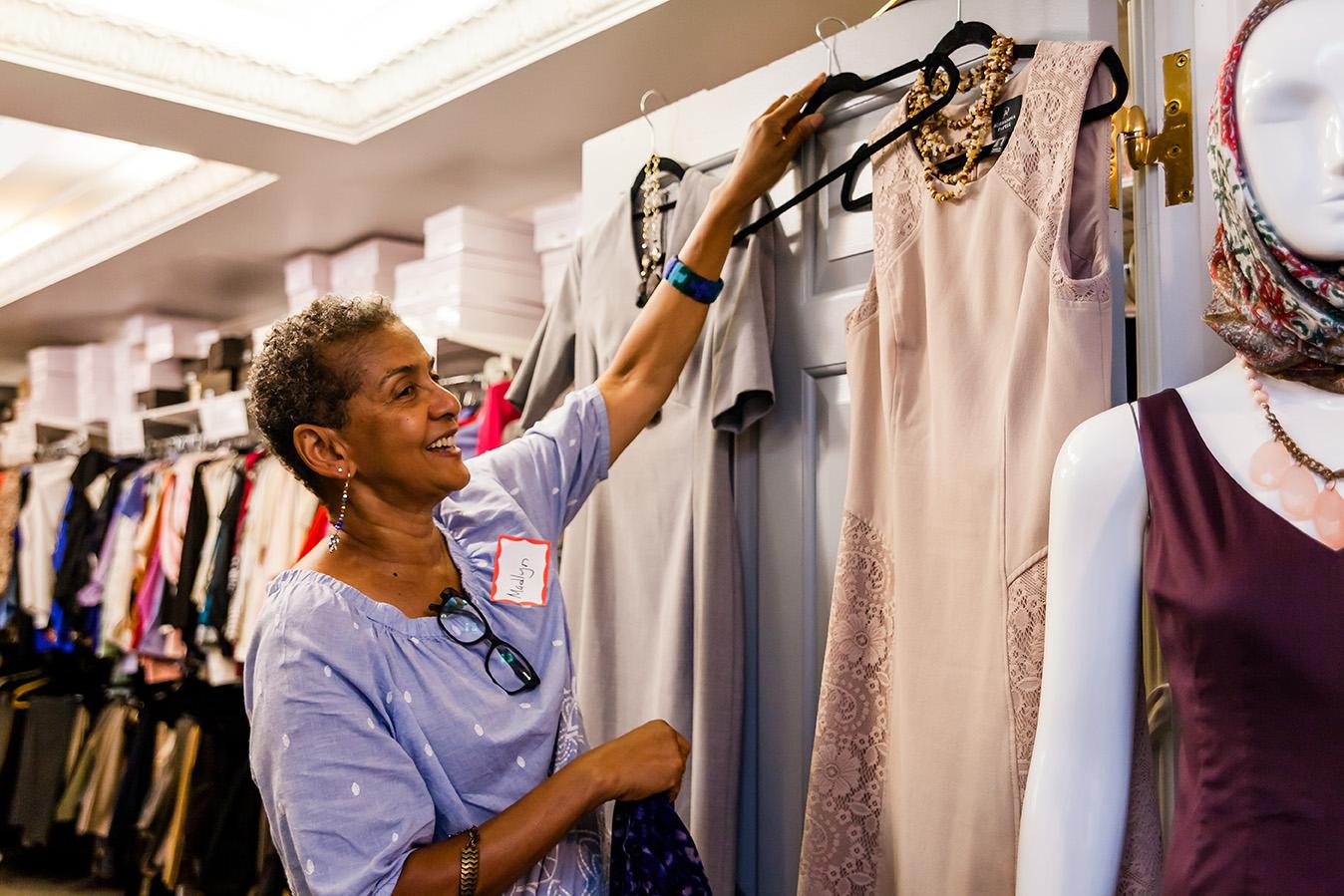 A Smiling Bottomless Closet Volunteer
